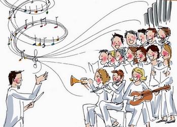dessin musique liturgique