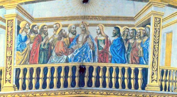 Jésus ressuscité apparaît au Cénacle