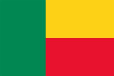 MU Bénin Carmaux drapeau