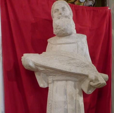 Saint Théodoric Balat, sculpture de Georges Serraz exécutée à la demande de l'Association des anciens élèves du Petit séminaire de Lavaur/St-Sulpice
