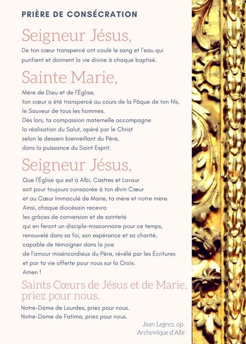 Prière consecration diocese 2