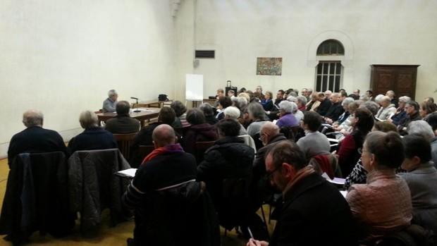 Rencontre œcuménique à Sainte-Scholastique. Intervention du pasteur Michel Bertrand