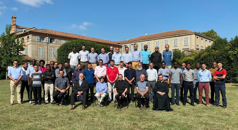 Photo de rentrée 2020 au Séminaire Saint-Cyprien (Toulouse)