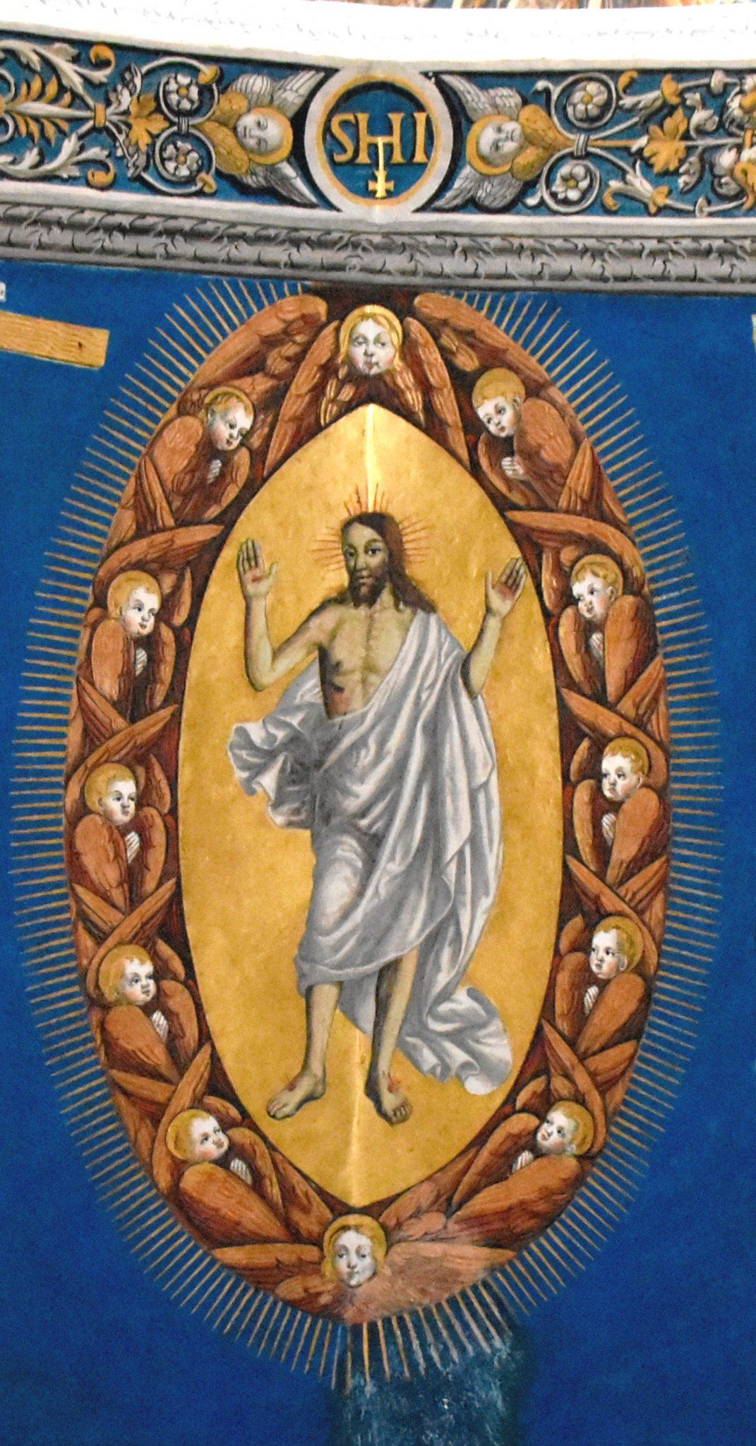 Fresque représentant Jésus ressuscité, Cathédrale Sainte-Cécile